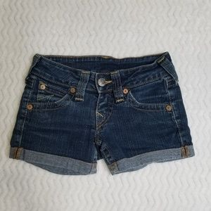 True Religion Stella Cuffed Jean Mini Shorts Sz 6